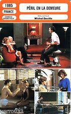 Fiche Cinéma. Movie Card. Péril en la demeure (France) 1985 Michel Deville
