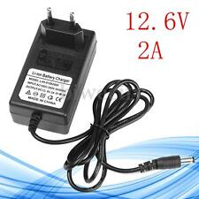 2 Pin EU Plus DC 12.6V 2A Adapter Charger For Lithium Ion Li-ion LiPo Battery