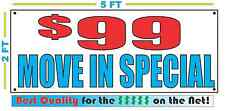 $99 MOVE IN SPECIAL Banner Sign NEW Larger Size Super High Texas Quality