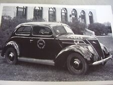 1937 FORD DETROIT  POLICE CAR    12 X 18 LARGE PICTURE / PHOTO