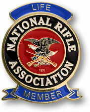 NEW NRA Life Member Brass Range Badge. 53499.