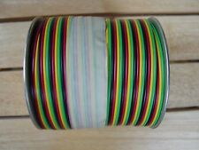 American Flyer Rainbow wire FC4C Flat 4 color wire Green,Yellow,Black,Red 200 Ft