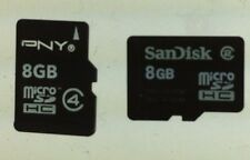 Lot of 2 8GB Micro SD HC Memory Card Mixed Brands Used Free Shipping