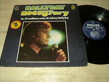 JOHNNY HALLYDAY DOUBLE 33 TOURS LP HOLLANDE SABAM VU SUR RTL