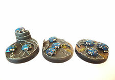 WARHAMMER 40K ARMY  NECRON SCARAB BASES X3 WELL  PAINTED AND BASED