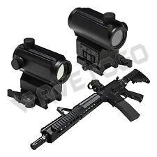 NcSTAR Tactical Compact Micro Red & Blue Dot Reflex Sight Optic Weaver Mount