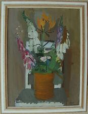 Hugo Simson 1910-1970, Nature morte fleurs sur le Chaise, À 1950