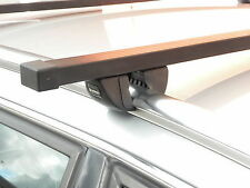 Solid Rail Roof Cross Bars 75kg For PEUGEOT 207 ESTATE SW 07 ONWARDS sm520
