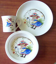 James Kent Old Foley - Little Miss Muffet Childrens Dish Set - Plate Bowl & Mug