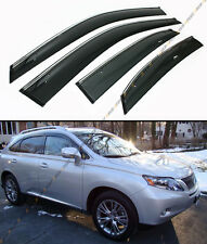2010-2015 LEXUS RX350 RX450H VIP CLIP-ON SMOKE TINTED WINDOW VISOR CHROME TRIM