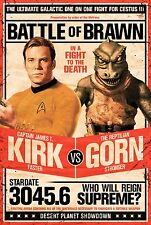 STAR TREK - KIRK VS GORN POSTER - 24x36 ORIGINAL SERIES SHATNER 241380