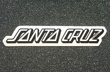 Santa Cruz Classic Strip Skateboard Sticker 5.2in si white