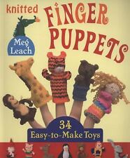 Book: KNITTED FINGER PUPPETS, 34 Easy-to-Make Toys,  Meg Leach, animals, people