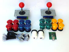 ARCADE JOYSTICK x 2 + 16  BUTTONS + USB INTERFACE FOR BARTOP MACHINE