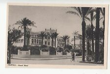 B77289 grand hotel tripoli lybia scan front/back image