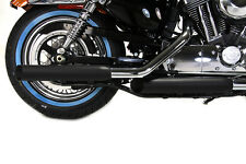 Terminali Scarichi Marmitte Side Slash Nere Sportster Nightster Iron Forty Eight
