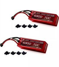 Venom 70C 4S 14.8V 6300mAh LiPo Batteries(2) ROAR Mp9e Baja 5b Flux Rc8.2e Eight