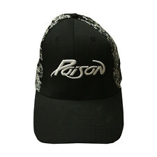 Poison Baseball Cap Rock Band Black Skeleton Flex-Fit Hat
