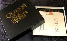 QUEEN THE COMPLETE WORKS BOX SET - 14 MINT REMASTERED LPs + 2 BOOKLETS & MAP