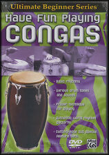 Have Fun Playing Congas DVD Learn How to Play Hand Drum Tuition Method