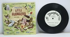 "Walt Disney Story of Little Hiawatha with songs- 7"" Vinyl LP- RP89"