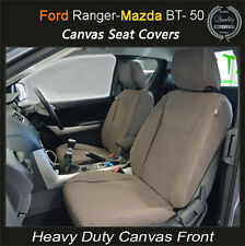 FORD RANGER PJ PX XL XLT CANVAS WATERPROOF SEAT COVERS FRONT PAIR - AIRBAG SAFE!