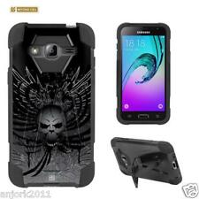 Wing Skull Shockproof Case w/Stand Cover for Samsung Galaxy Amp Prime Sol J3