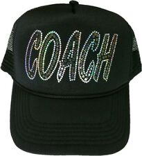 Women's coach cap no rhinestones ultra bling sparkly gym trucker trainer hat