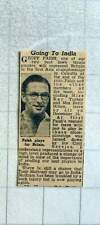 1949 Jeff Paish Lawn Tennis Player Going To India