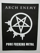 ARCH ENEMY PURE F-----G METAL SEW ON GIANT BACKPATCH