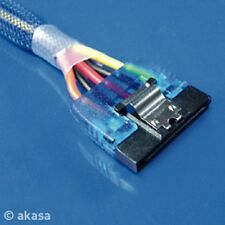Akasa Azul UV Reactivo Power Cable Adaptador Para Sata 2