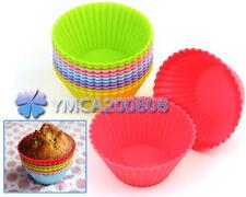 12X Reusable Molde de Silicona para  DIY  Magdalena Biscocho Muffin Chocolate