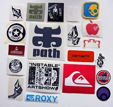 Volcom,Quiksilver,Roxy,WM,Nixon,Ipat,Carhartt, etc sticker set 20pcs Set#15
