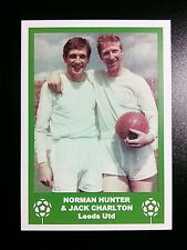LEEDS UNITED - HUNTER & CHARLTON - VINTAGE BIRTHDAY 'FOOTBALL CARD' / GIFT TAG