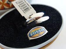925 Argento Sterling Anello Fossil Brand Scatola Regalo NUOVA CON ETICHETTA