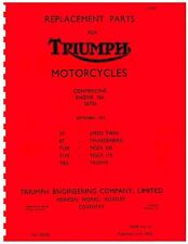 Triumph Parts Manual Book 1955 T110 TIGER 110 & TR5 TROPHY