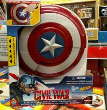 NERF Marvel CAPTAIN AMERICA: CIVIL WAR Blaster Reveal Shield Darts
