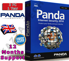 Panda antivirus securite d'internet 3 utilisateurs de PC cle d'activation 1 an
