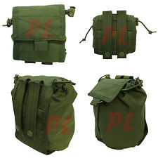 Tactical Molle Roll Up Utility Pouch Carrier Roll-Up Dump Sack Pouch-OD GREEN