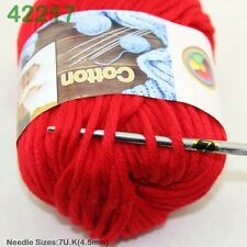 SALE LOT OF 1 Ball X 50g Special Thick Worsted 100% Cotton HAND Knitting Yarn F