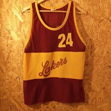 vintage Lakers (not LA) old school bball jersey. retro nba M