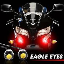 2pcs Red Tiny LED Motorcycle Driving Headlight Fog Lamp Spot Light Compact