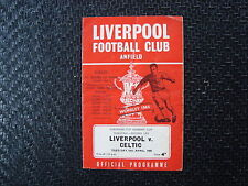 Liverpool v Celtic 1966 European Cup Winners Cup Semi Final 2nd Leg