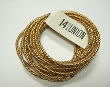 NEW 14TH AND UNION NORDSTROM RACK GOLD TONE MULTI BANGLE STRETCHY CHAIN BRACELET