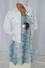 Kleid Sommer Jeans Risse Optik Used Look Exclusiv Classics & More hell blau 40