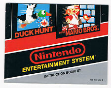 RARE NOTICE VERSION USA - ETATS UNIS CONSOLE NINTENDO NES : DUCK HUNT - MARIO !