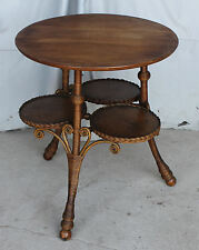 Antique Victorian Oak Wicker Table – Heywood