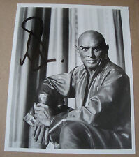 Vintage YUL BRYNNER Signed Photo - The King And I Publicity Studio Photo