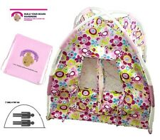 Teddy Bears Dolls Flower Tent fits 2 Build a Bear Teddies of 40cms Clothing New