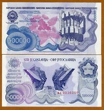 Yugoslavia, 500,000 (5000000) Dinara, 1989, Pick 98, AA-Prefix, UNC